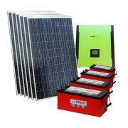 Kit solar 10.000w/dia - Inversor 3000w Senoidal 48v + Nobreak