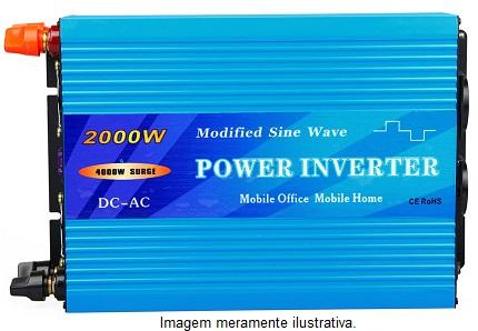 Inversor Onda Modificada 2000w 24v/ 220v  - Kasatec Energia Solar
