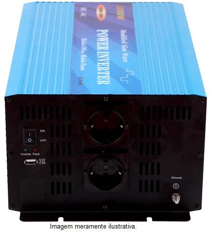 Inversor Onda Modificada 3000w 24v  - Kasatec Energia Solar
