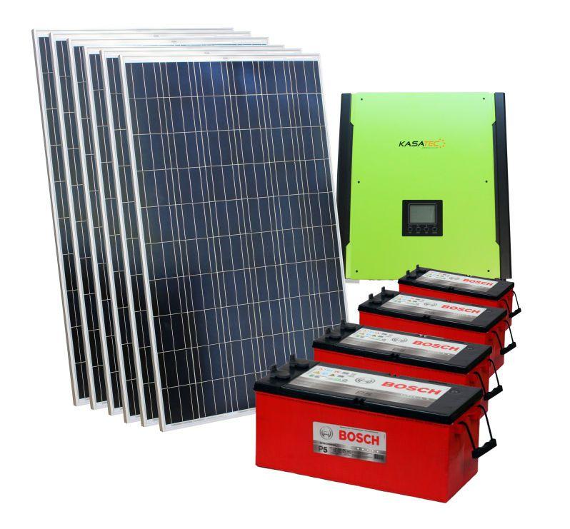 Kit solar 10.000w/dia - Inversor 3000w Senoidal 48v + Nobreak  - Kasatec Energia Solar