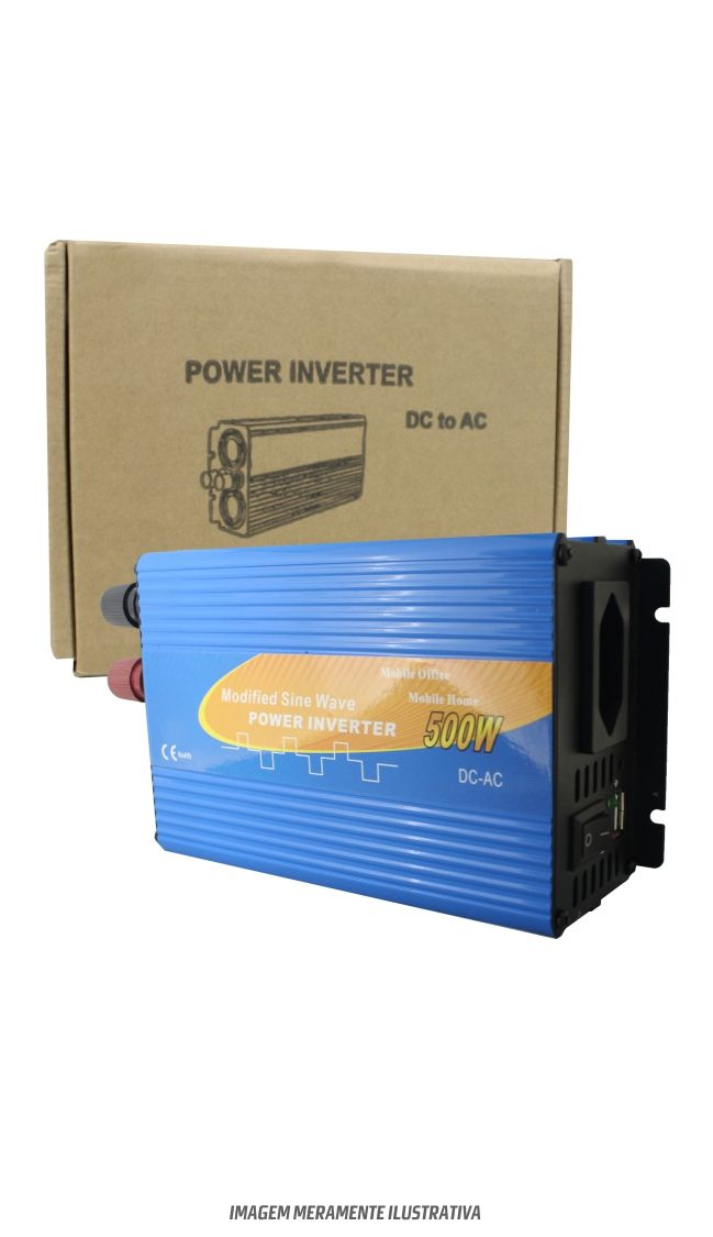 Inversor Onda Modificada 500w 24v/110v  - Kasatec Energia Solar
