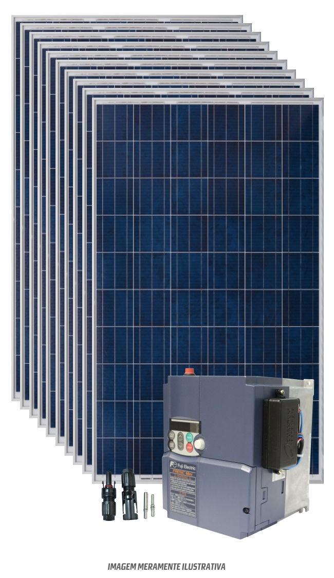 Kit bombeamento de água para motor de até 3cv trifasico 220v  - Kasatec Energia Solar