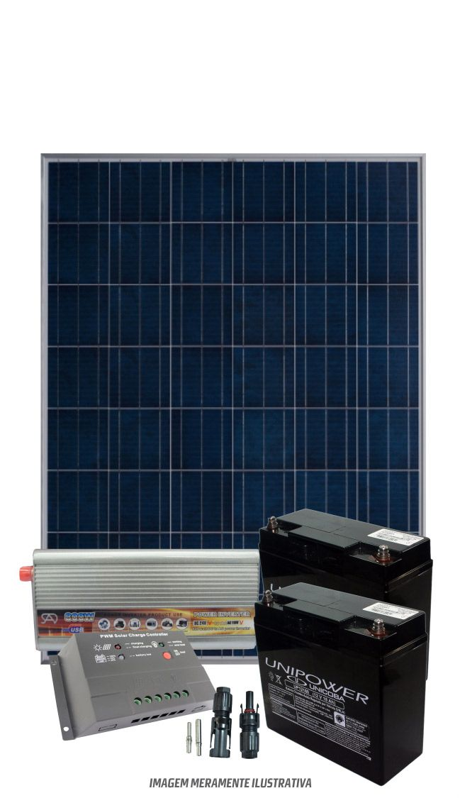 kit solar 170w/dia - Onda modificada  - Kasatec Energia Solar