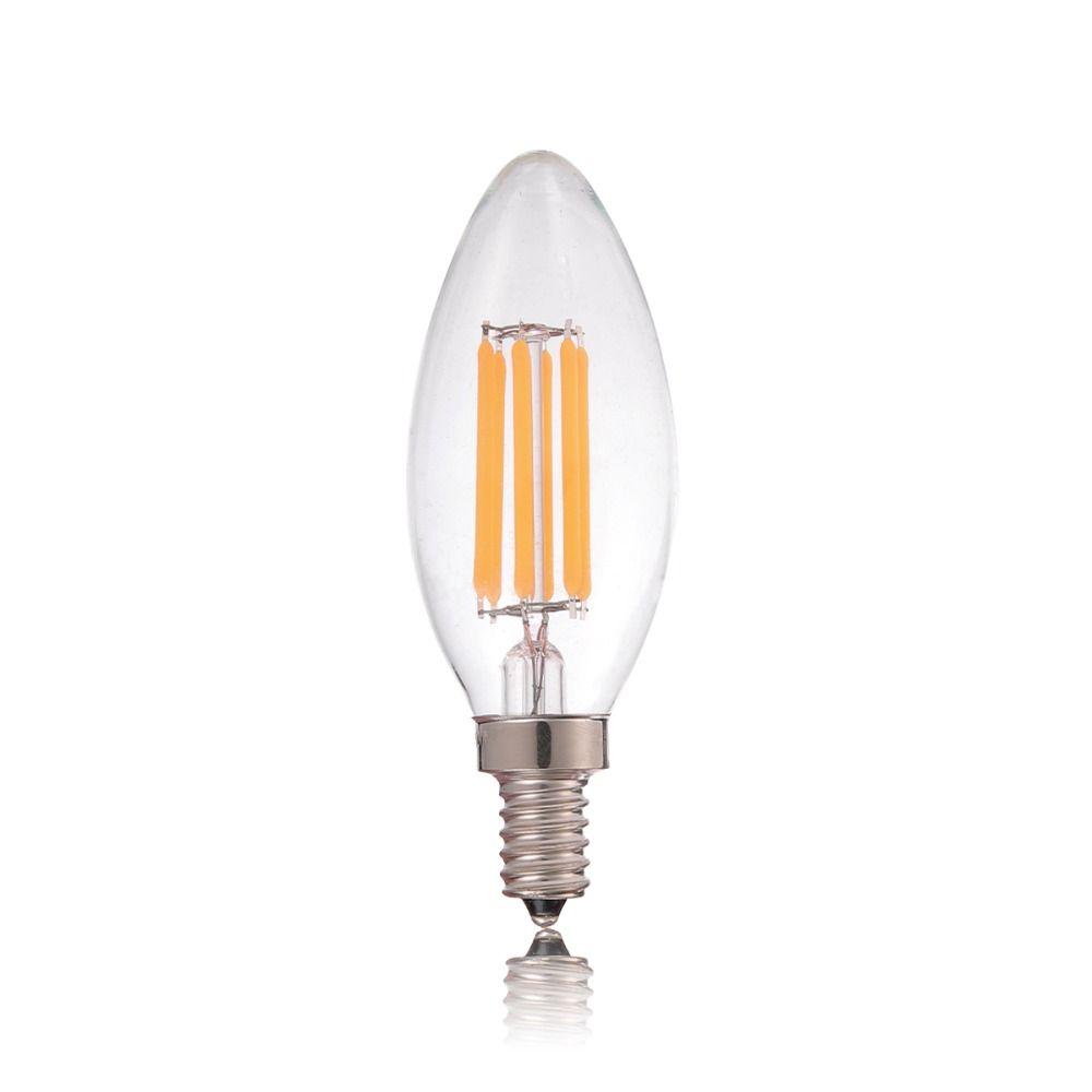 Lustre Sala Pendente Candelabro Cromado Transparente Acrílico + Lâmpada LED