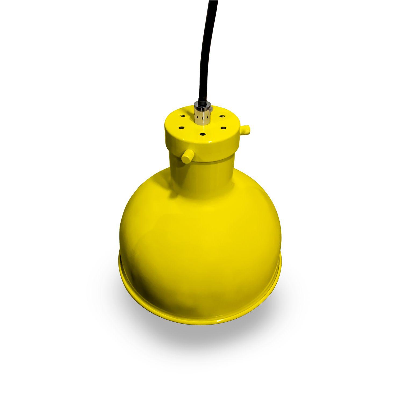 Lustre Pendente em Ferro Amarelo