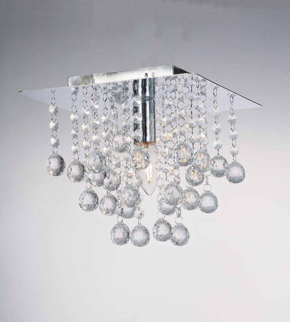 Pendente de Cristal com Bolinhas Transparente