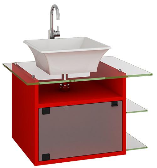 Gabinete Para Banheiro Gabinete em vidro para banheiro -> Gabinete De Banheiro Vidro