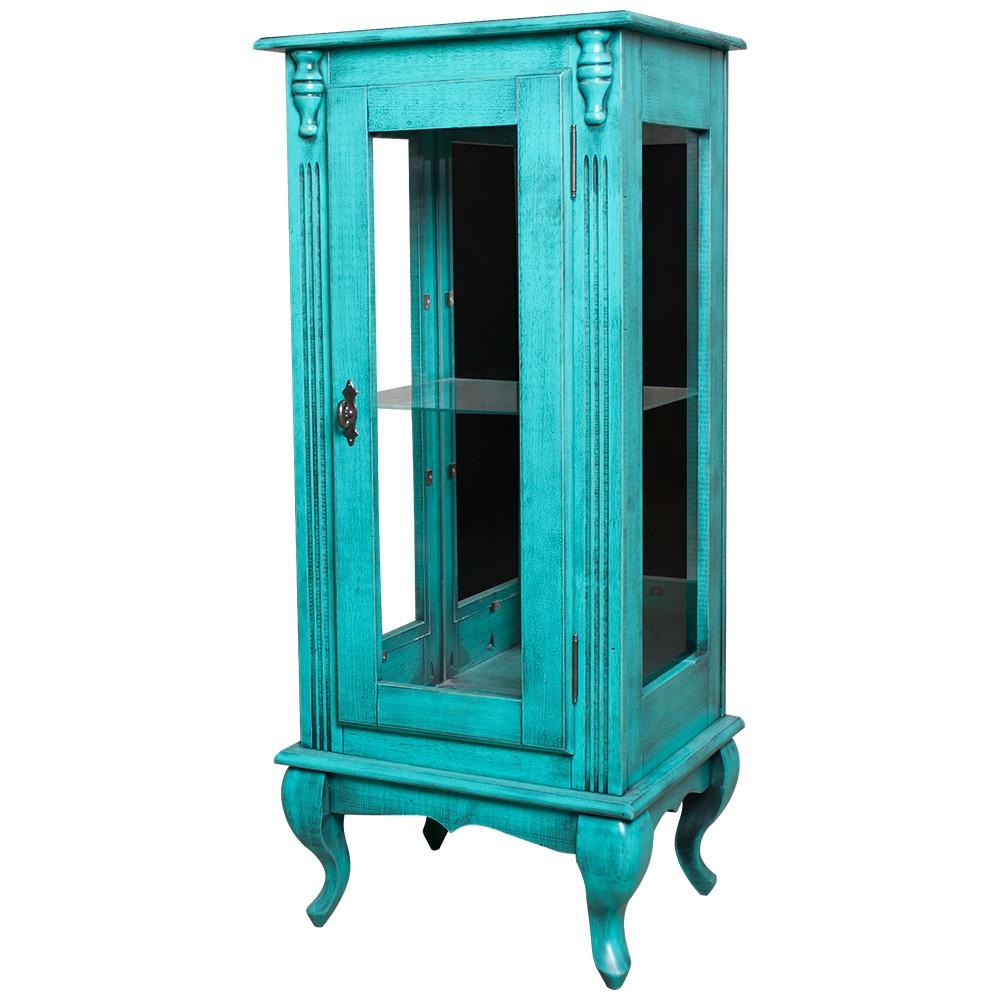 Vitrine Baixa Lateral 1 Porta de Vidro 1 Prateleira de Vidro com Espelho - M560352E