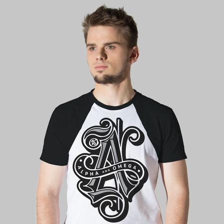 Camiseta Alfa e Omega -Masculina- Raglan  - Jesuscopy