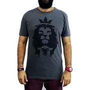 Camiseta Cordeiro e Leão -Masculina - Chumbo