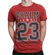 Camiseta Salmos 23 VERMELHA