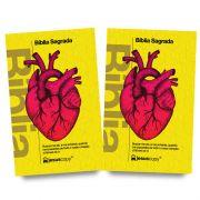KIT 07 - FRETE GRÁTIS - BÍBLIA Coração Amarela + BÍBLIA Coração Amarela