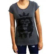 Camiseta Cordeiro e Leão - Chumbo Feminina