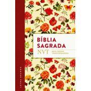 Biblia NVT - Flores - Letra Grande - Flexível