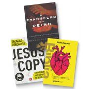 Kit Reino - Biblia Coração Amarela + Jesuscopy + Evangelho do Reino FRETE GRÁTIS