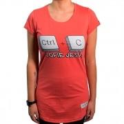 Camiseta  Ctrl+C  Jesus Feminina - #REINODEPONTACABEÇA