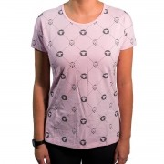 Camiseta Pattern Rosa Feminina - #REINODEPONTACABEÇA