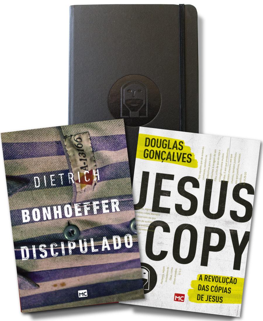 KIT 03 - FRETE GRÁTIS - Moleskine + Discipulado + Jesuscopy  - Jesuscopy