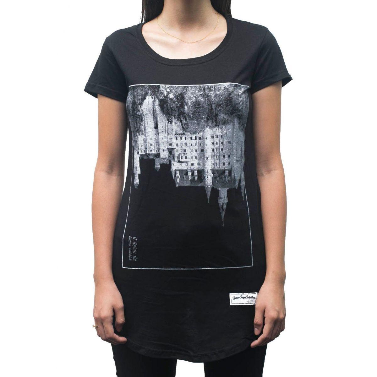 Camiseta  Upside Down Castle Feminina - #REINODEPONTACABEÇA  - Jesuscopy