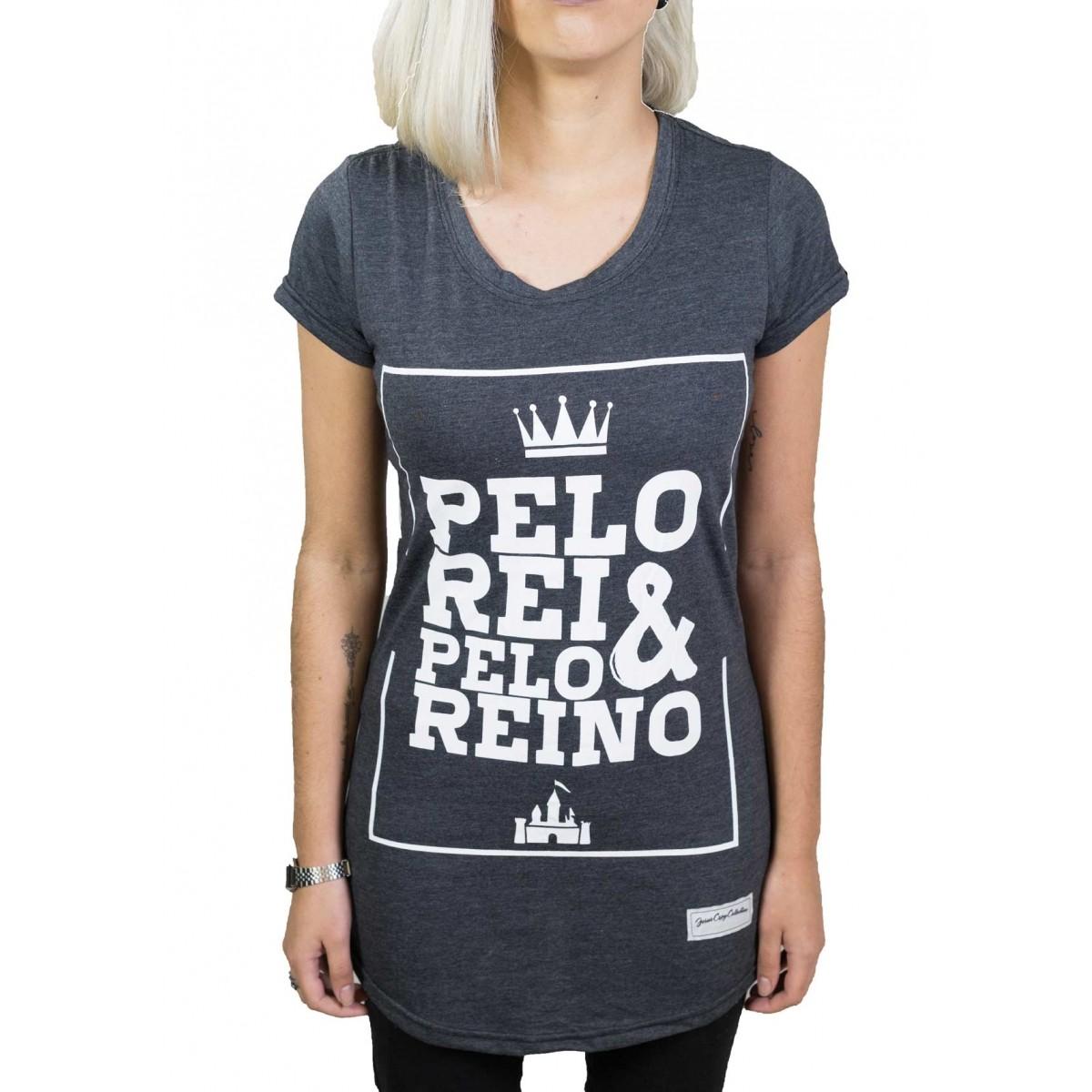Camiseta Pelo Rei e Pelo Reino Feminina - #REINODEPONTACABEÇA  - Jesuscopy