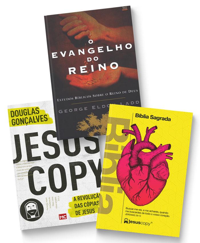 Kit Reino - Biblia Coração Amarela + Jesuscopy + Evangelho do Reino FRETE GRÁTIS  - Jesuscopy