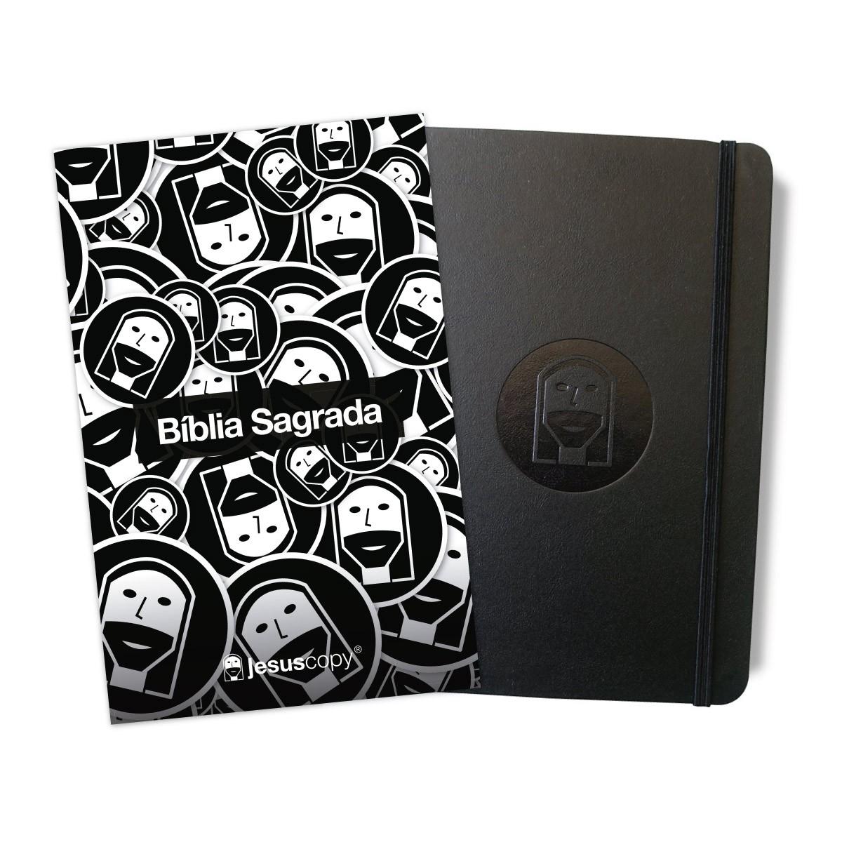 Kit 09 - Bíblia de Carinhas NVT + Moleskine Jesuscopy  - Jesuscopy