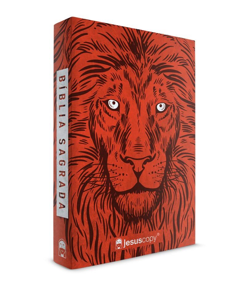 Bíblia Jesuscopy Leão Vermelho - Capa mole    - Jesuscopy