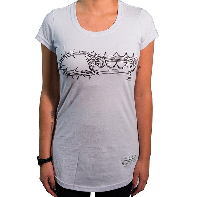 Camiseta Duas Coroas Feminina - #REINODEPONTACABEÇA  - Jesuscopy