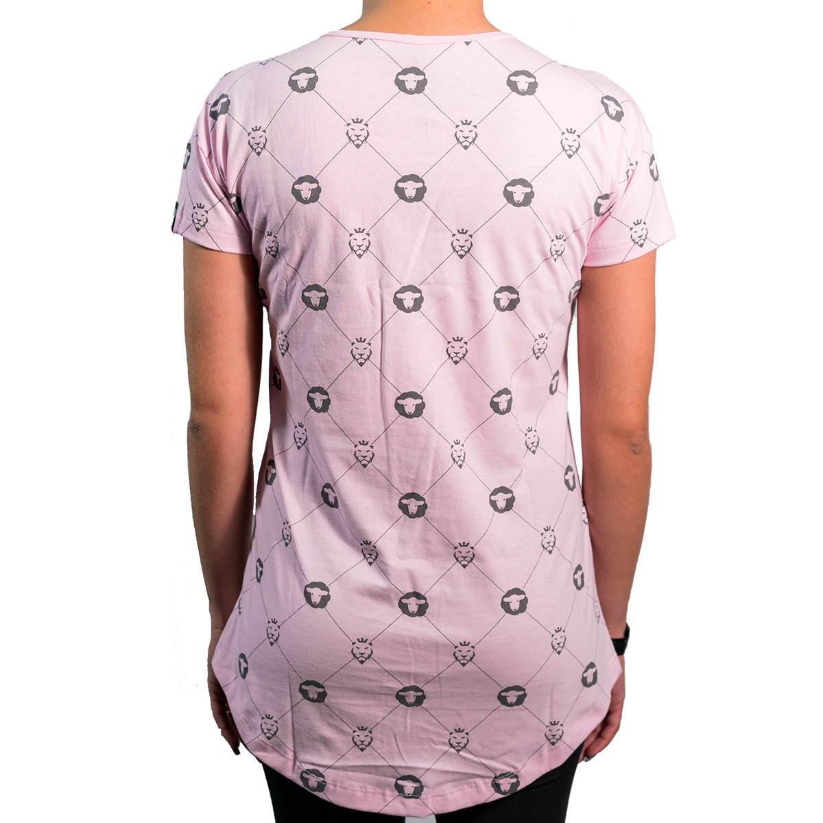 Camiseta Pattern Rosa Feminina - #REINODEPONTACABEÇA  - Jesuscopy