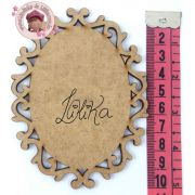 PLACA DECORATIVA OVAL 10 X 7,5