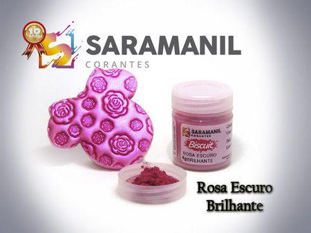 CORANTE EM PÓ ROSA ESCURO BRILHANTE 7G