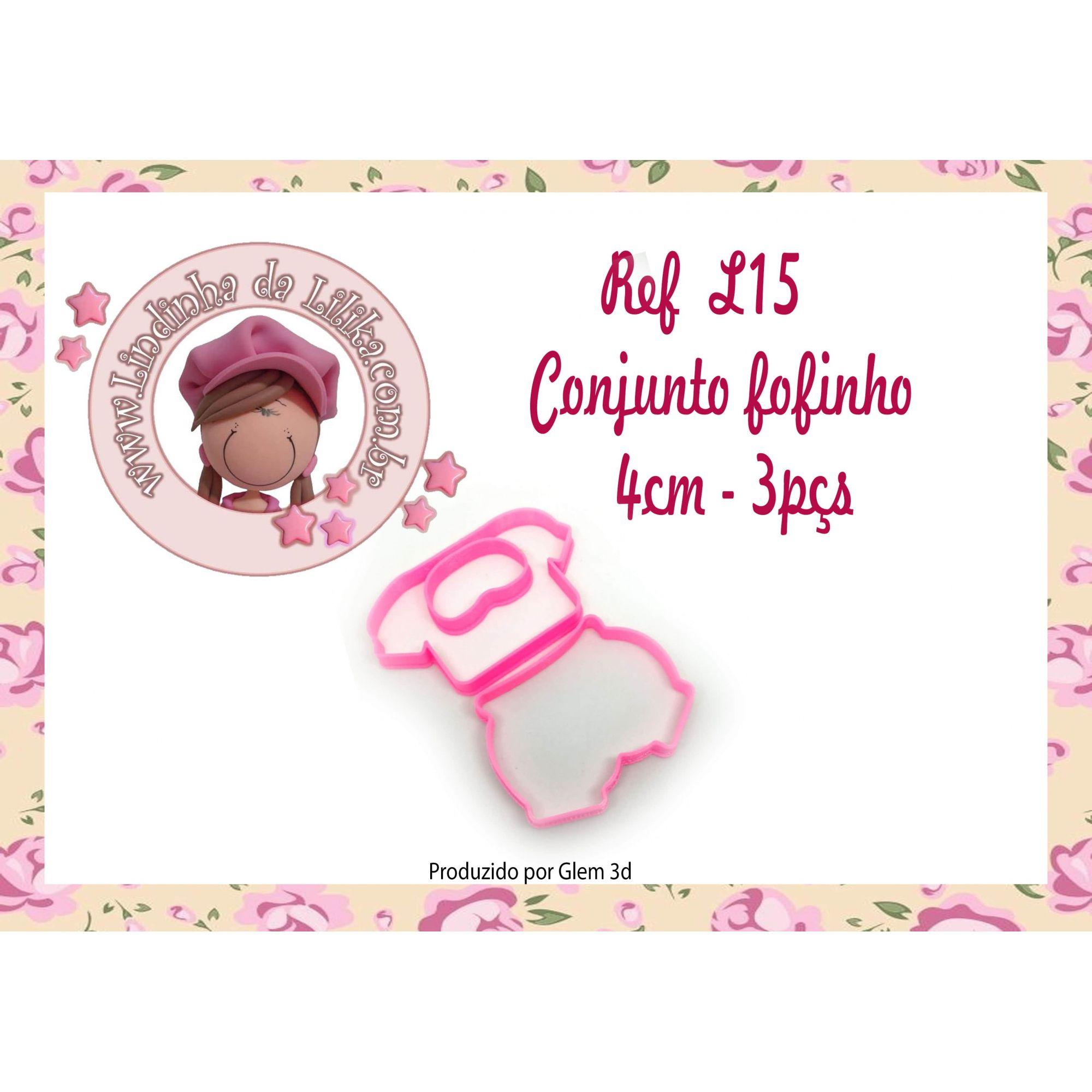 CORTADOR CONJUNTO FOFINHO - 3 PÇS
