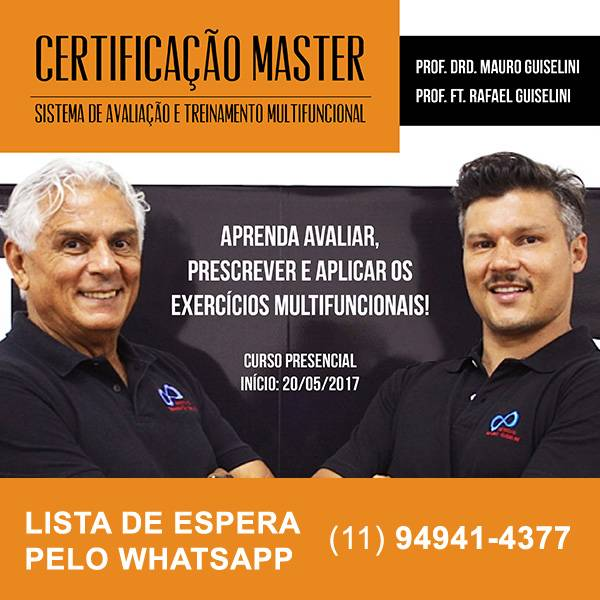 Certificação Master - Sistema de Avaliação e Treinamento Multifuncional (Mauro Guiselini e Rafael Guiselini)  - Cursos distância e aulas online Instituto Phorte Educação.