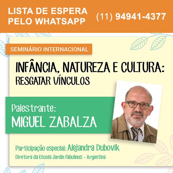 Infância, natureza e cultura: resgatar vínculos (Miguel Zabalza)  - Cursos distância e aulas online Instituto Phorte Educação.