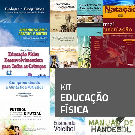 Kit Educação Física (Kit com 14 livros)  - Cursos distância e aulas online Instituto Phorte Educação.