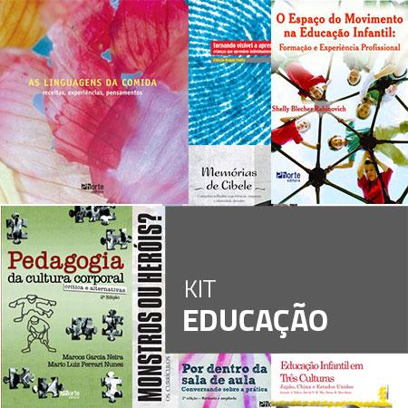 Kit Educação (Kit com 8 livros)  - Cursos distância e aulas online Instituto Phorte Educação.