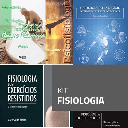 Kit Fisiologia (Kit com 5 livros)  - Cursos distância e aulas online Instituto Phorte Educação.