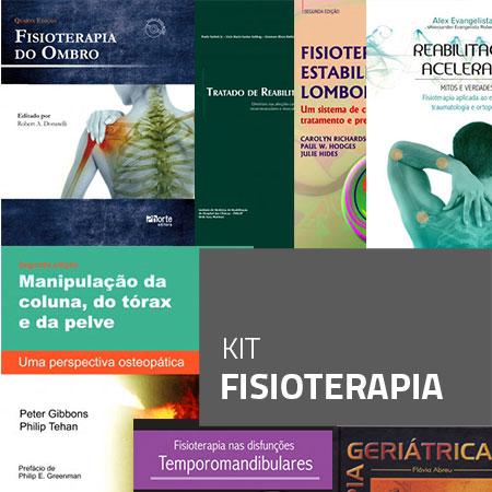 Kit Fisioterapia (Kit com 7 livros)  - Cursos distância e aulas online Instituto Phorte Educação.