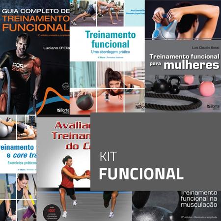 Kit Funcional (Kit com 6 livros)  - Cursos distância e aulas online Instituto Phorte Educação.