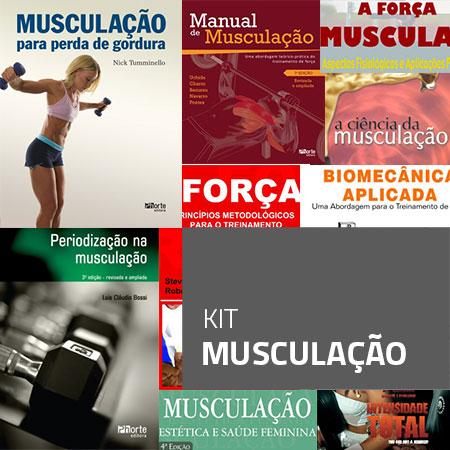 Kit Musculação (Kit com 9 livros)  - Cursos distância e aulas online Instituto Phorte Educação.