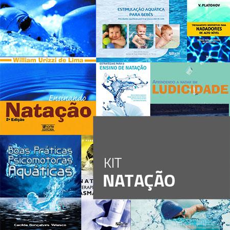 Kit Natação (Kit com 9 livros)  - Cursos distância e aulas online Instituto Phorte Educação.