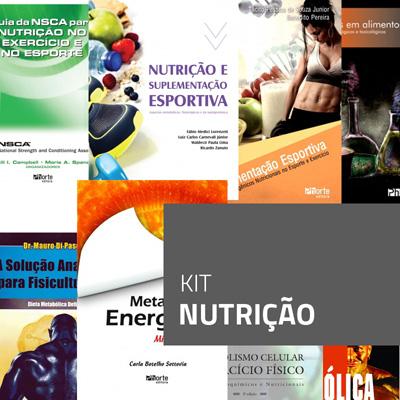 Kit Nutrição (Kit com 8 livros sobre nutrição)  - Cursos distância e aulas online Instituto Phorte Educação.