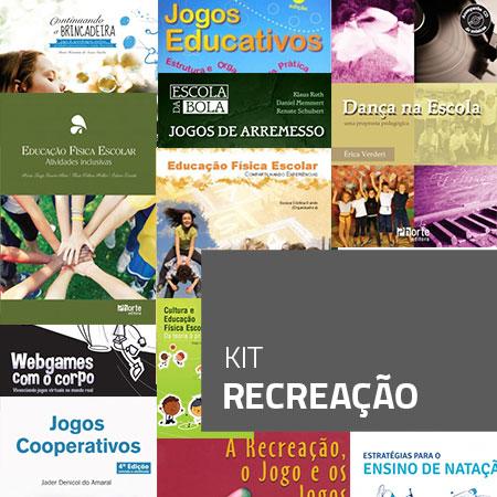 Kit Recreação (kit com 11 livros)  - Cursos distância e aulas online Instituto Phorte Educação.