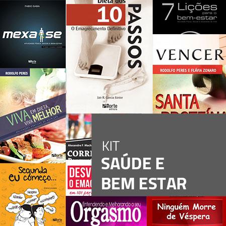 Kit Saúde e Bem-estar (Kit com 11 livros)  - Cursos distância e aulas online Instituto Phorte Educação.