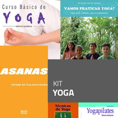 Kit Yoga (Kit com 5 livros)  - Cursos distância e aulas online Instituto Phorte Educação.