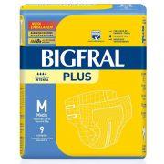 Fralda Geriátrica Bigfral Plus M (Pacote c/9)