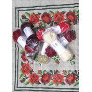 Kit Tapete Rosinhas Vermelhas