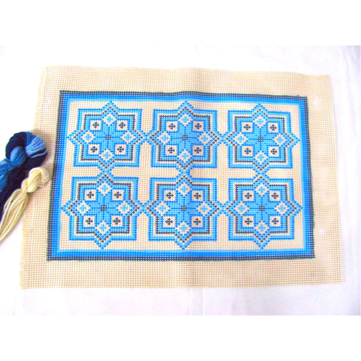 Kit Almofada Azulejo Azul  - Conceição Spinola Tapeçaria