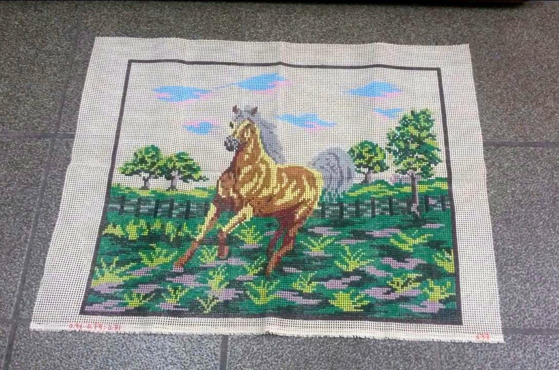 Tela Painel Cavalos  - Conceição Spinola Tapeçaria