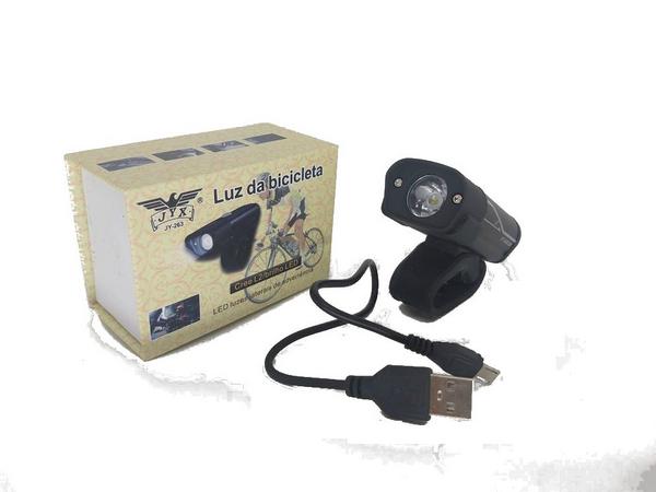 FAROL LANTERNA JY 263 BIKE RECARREGAVEL USB LED
